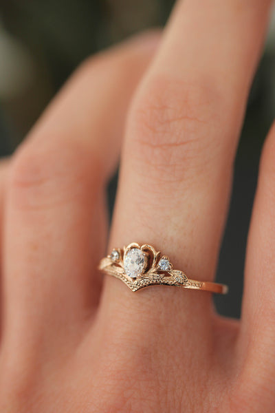 Moissanite engagement ring / Amura - Eden Garden Jewelry