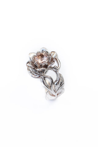 Morganite flower engagement ring / Rosalia - Eden Garden Jewelry™