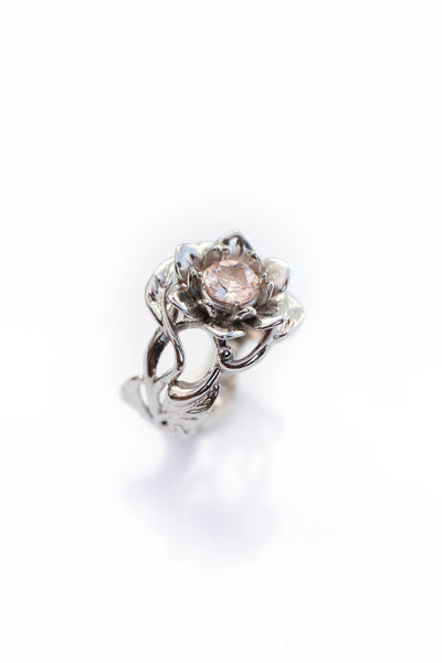 Morganite flower engagement ring / Rosalia - Eden Garden Jewelry