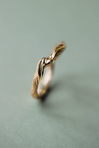 Twisted branch wedding ring, matching band for Olivia - Eden Garden Jewelry