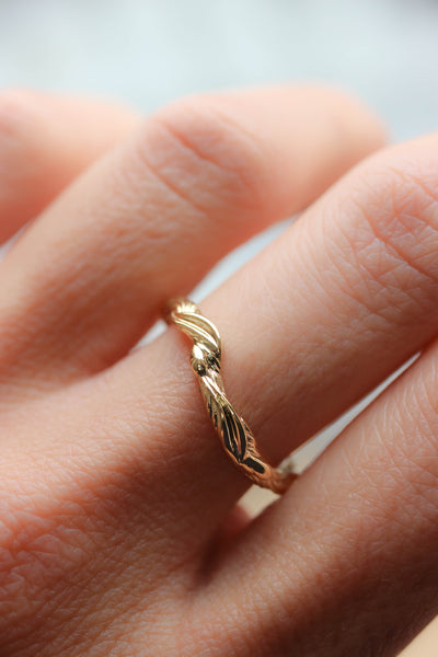 Twisted branch wedding ring, matching band for Olivia - Eden Garden Jewelry™
