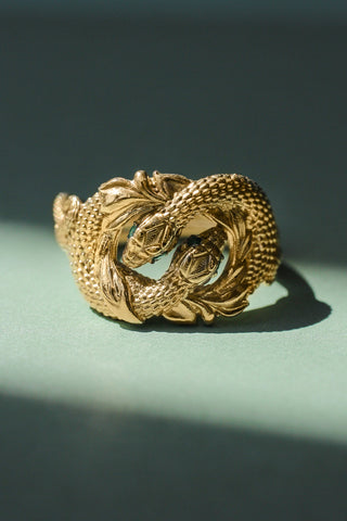 Ring of Barahir, two snakes statement ring - Eden Garden Jewelry