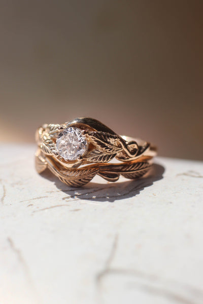 Twig wedding ring, matching band for Azalea - Eden Garden Jewelry