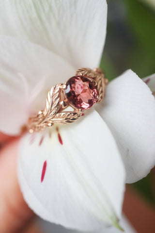 Pink tourmaline engagement ring / Cornus - Eden Garden Jewelry