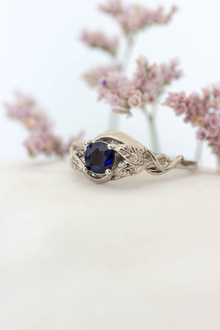 Natural sapphire engagement ring / Azalea