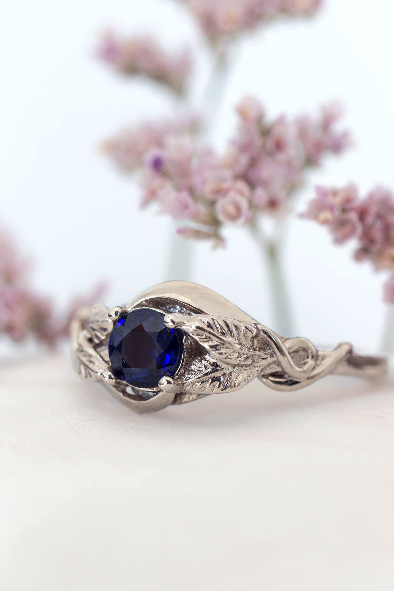 Natural sapphire engagement ring / Azalea - Eden Garden Jewelry
