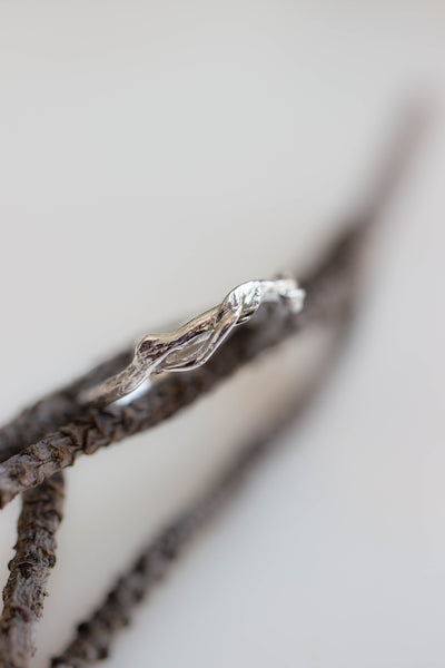 Branch wedding ring, matching band for Clematis - Eden Garden Jewelry™