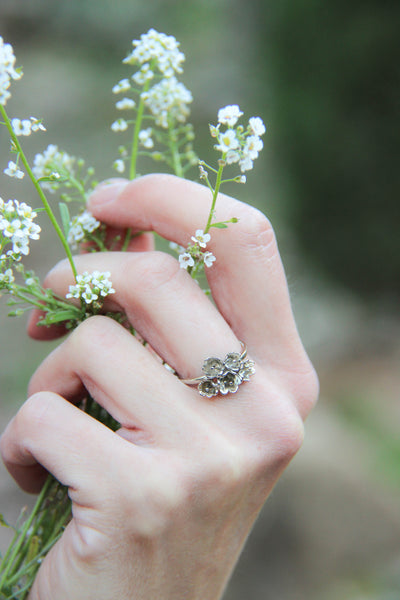 Lily of the valley ring, flower engagement ring - Eden Garden Jewelry