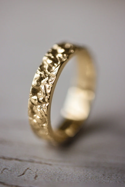 Lab diamonds ring, leaves engagement ring / Wisteria - Eden Garden Jewelry