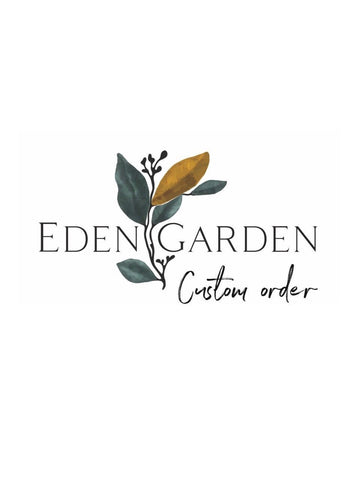 Custom order: natural diamond engagement ring / Viola - Eden Garden Jewelry