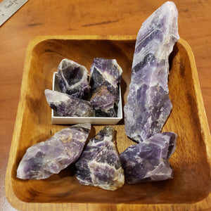 Chevron Amethyst raw untumbled