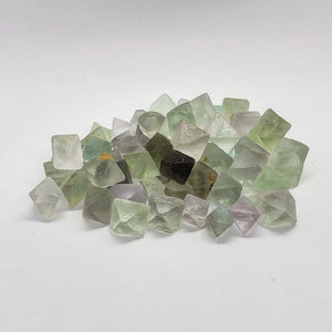 Fluorite octahedral pieces pack
