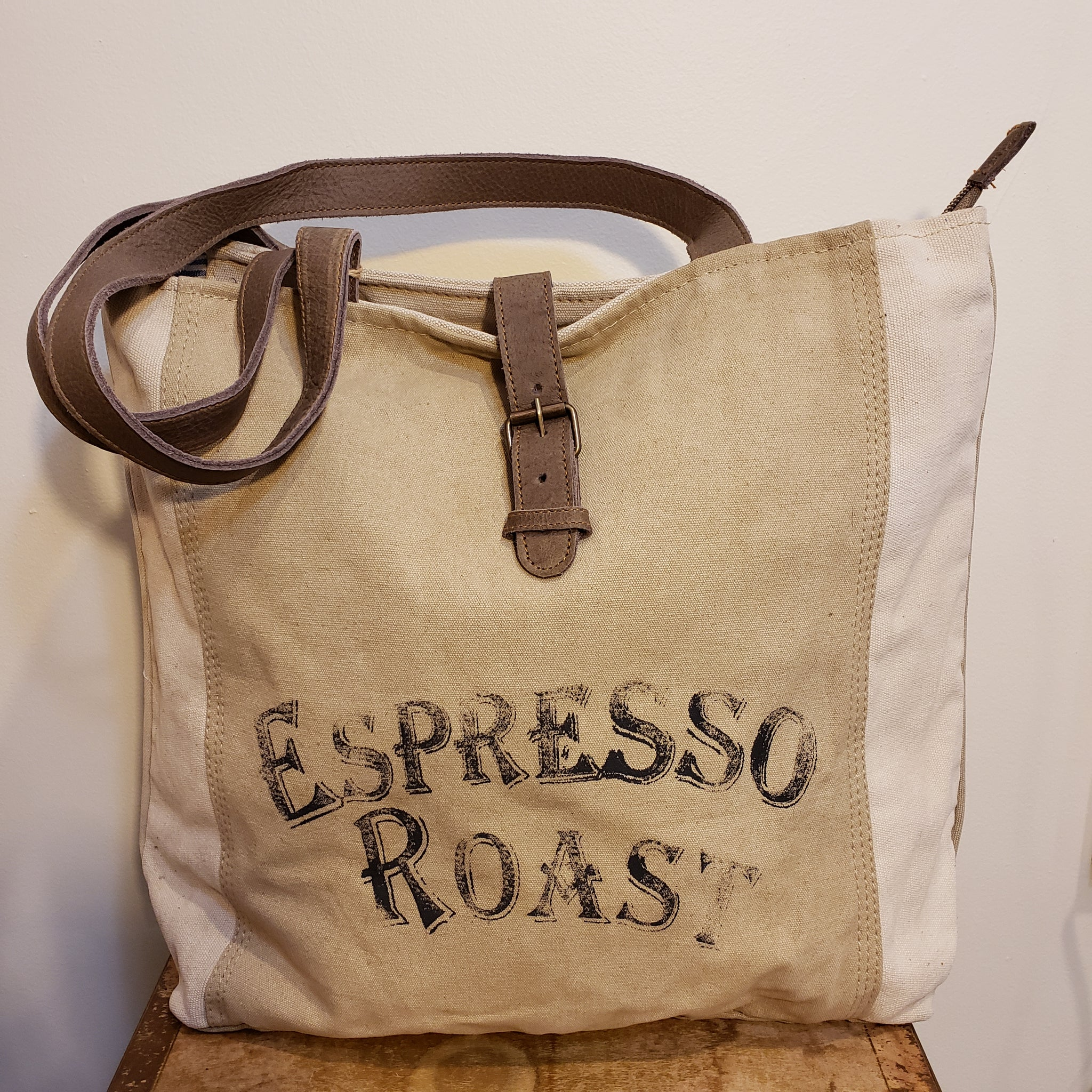 Espresso Roast canvas tote bag
