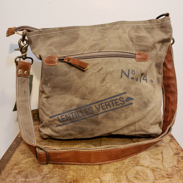 Au Puy canvas shoulder bag