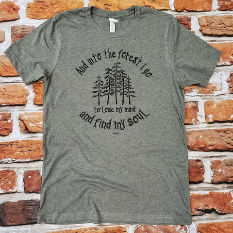 And Into the Forest unisex tshirt