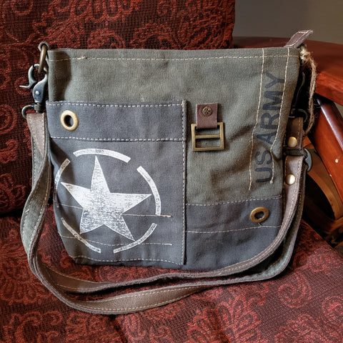 U.S. Army re-purposed canvas bag