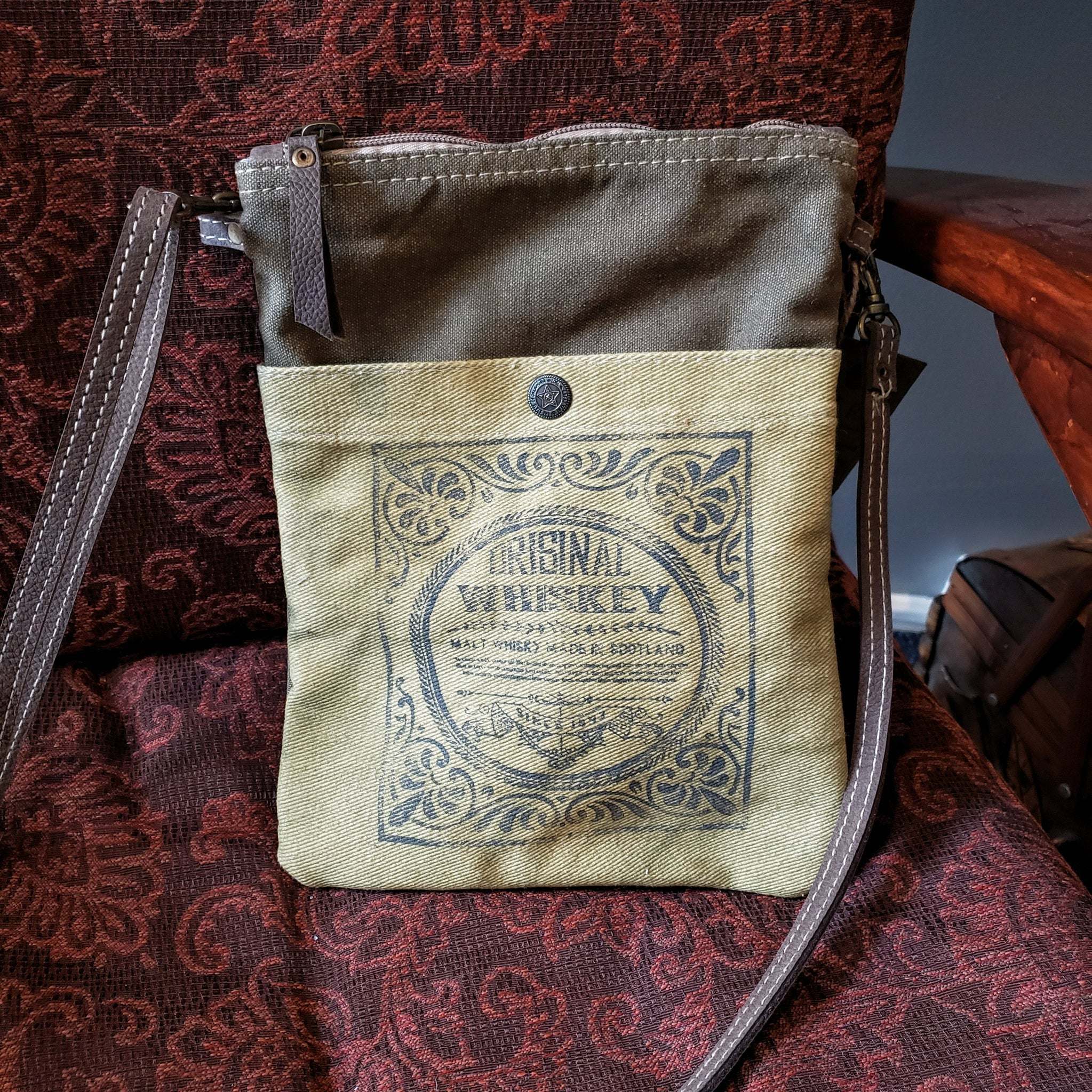 Original Whiskey re-purposed canvas bag