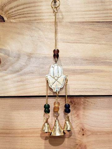 Hamsa hand brass mini chime