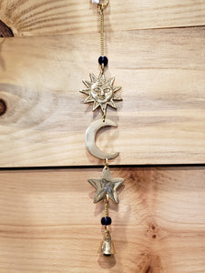 Sun Moon Star small brass chime