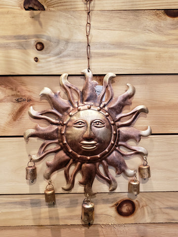 Sun & Bells metal chime