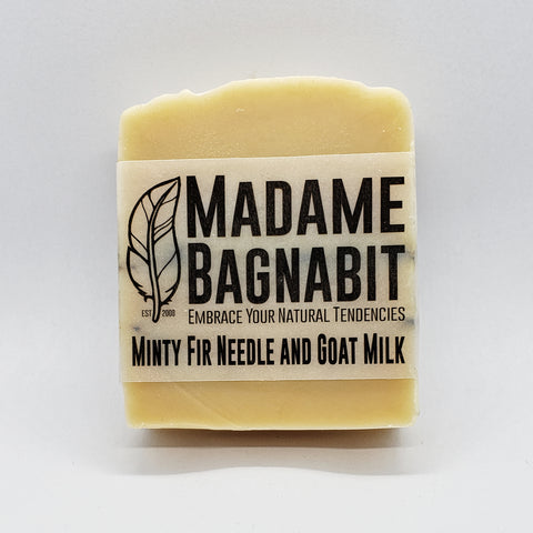 Minty Fir Needle & Lavender goat milk bar