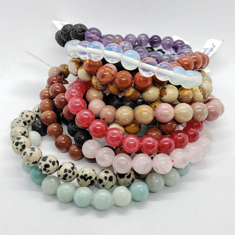 8mm Energy stone & Lava bead bracelet