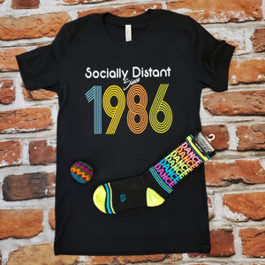 Socially Distant custom year unisex tshirt