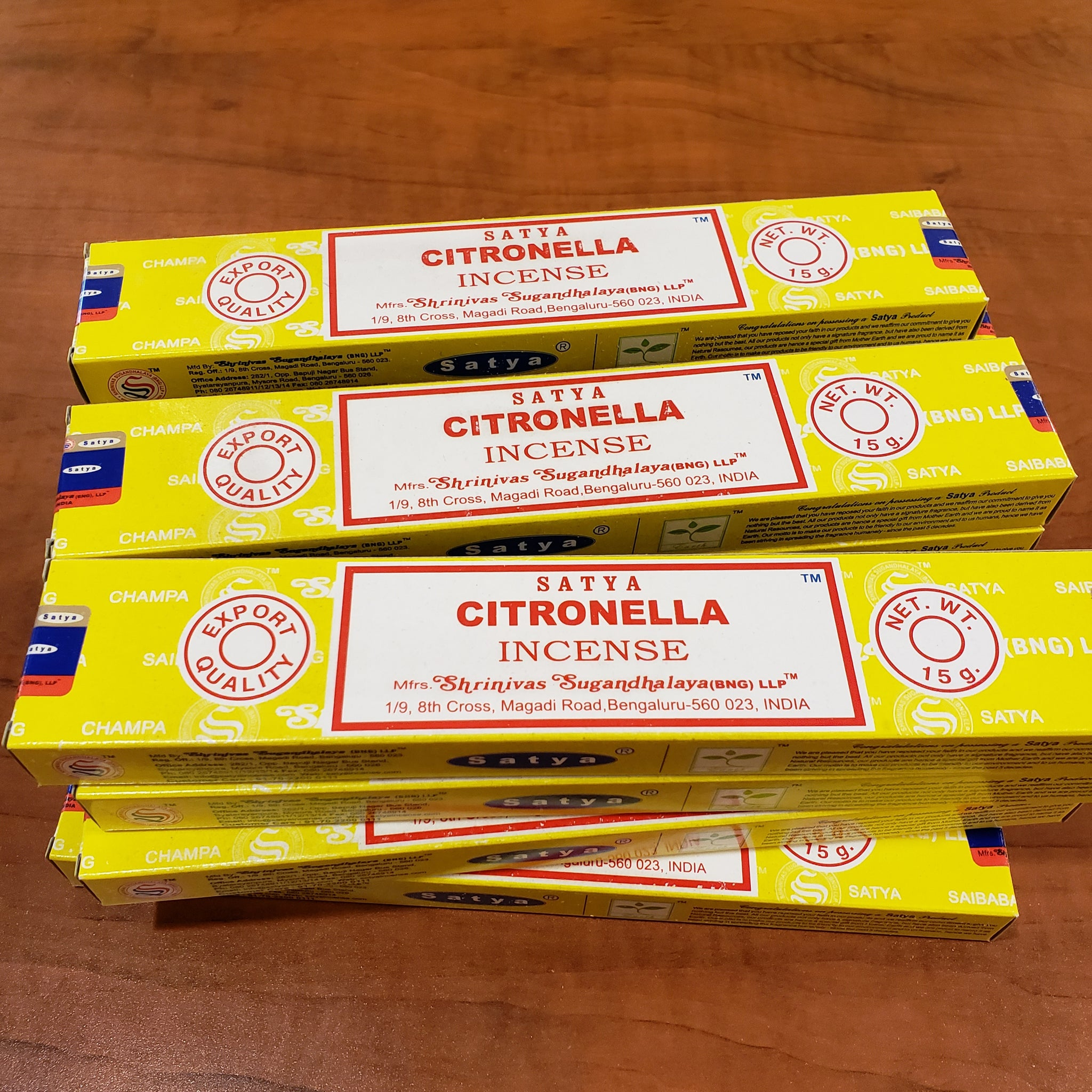Citronella stick incense