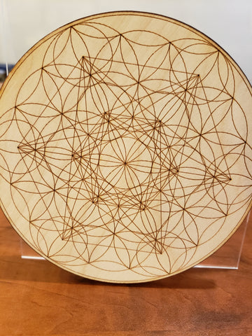 Flower of Life geometric crystal grid