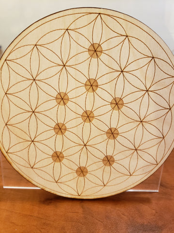 Flower of Life dots crystal grid
