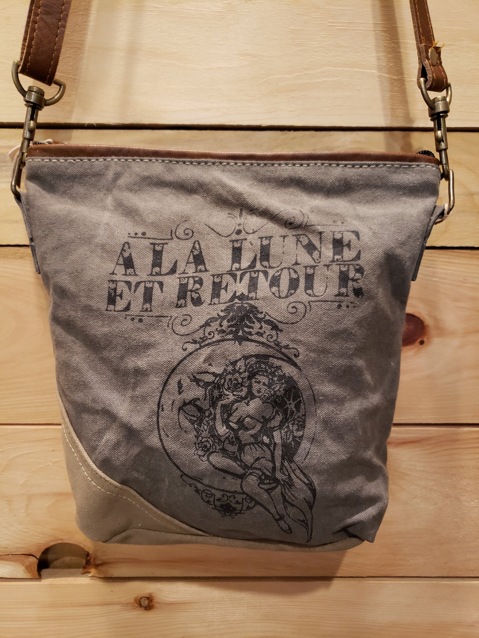 La Lune canvas handbag