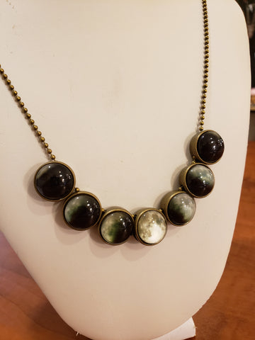 Moon Phases set necklace