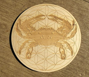 Crab flower of life crystal grid