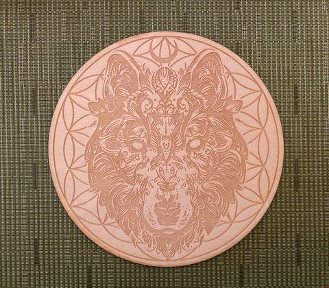 Wolf flower of life crystal grid
