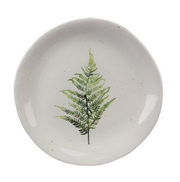 Fern speckled snack plate