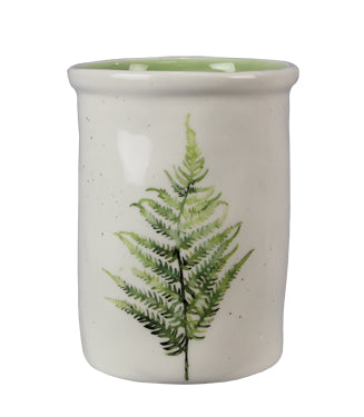 Fern speckled utensil holder