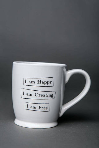 Mantra Mug - Happy Creating Free