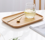 Bamboo Tea & Food Dessert Serving Tray