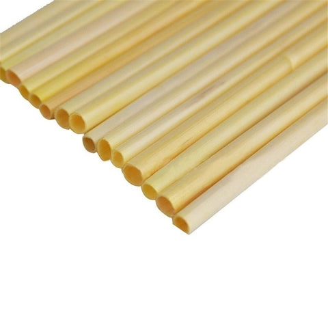 Natural Wheat Straw - 100% Biodegradable - 100 pieces (new)