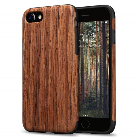 Natural Wood Grain Phone Case - iPhone 7 8 6 6S X XS MAX XR Coque
