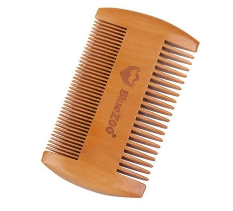 Bamboo Beard Comb Anti-Static Handmade