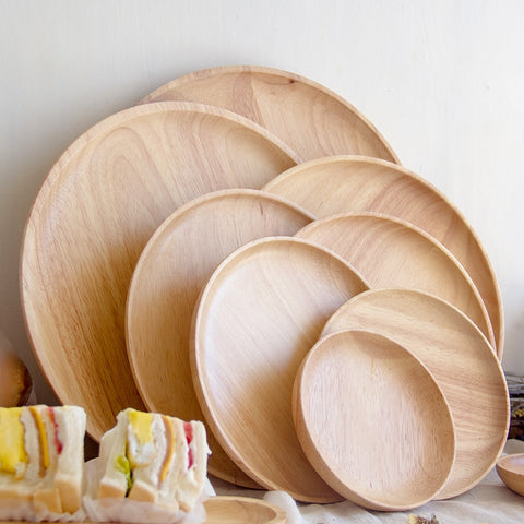 Scandinavian style light wood plates dishes trays