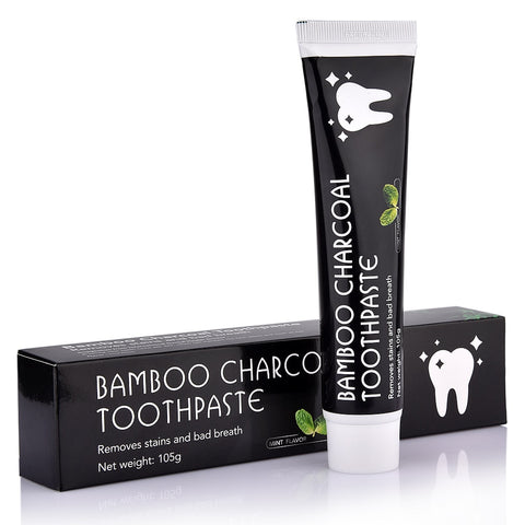 Bamboo Charcoal  Toothpaste - Includes Free Bamboo Toothbrush