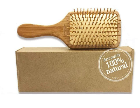 Organic Bamboo Hair Brush  Scalp Massaging