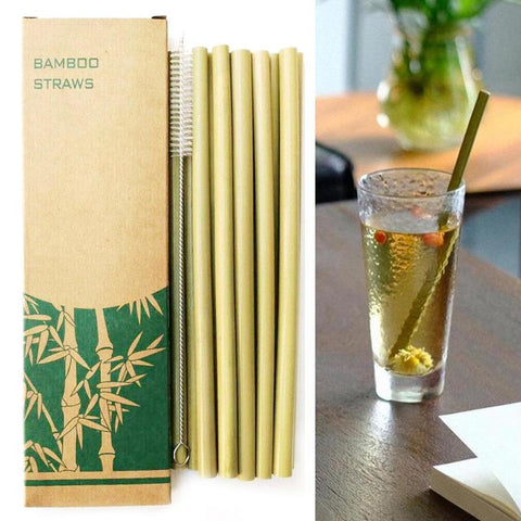 Natural Bamboo Straws Reusable
