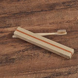 Bamboo toothbrush - 10pc Eco Friendly - soft bristle tip charcoal
