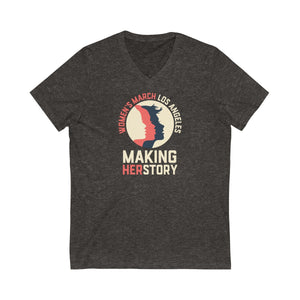 Making HerStory Unisex Jersey Short Sleeve V-Neck Tee