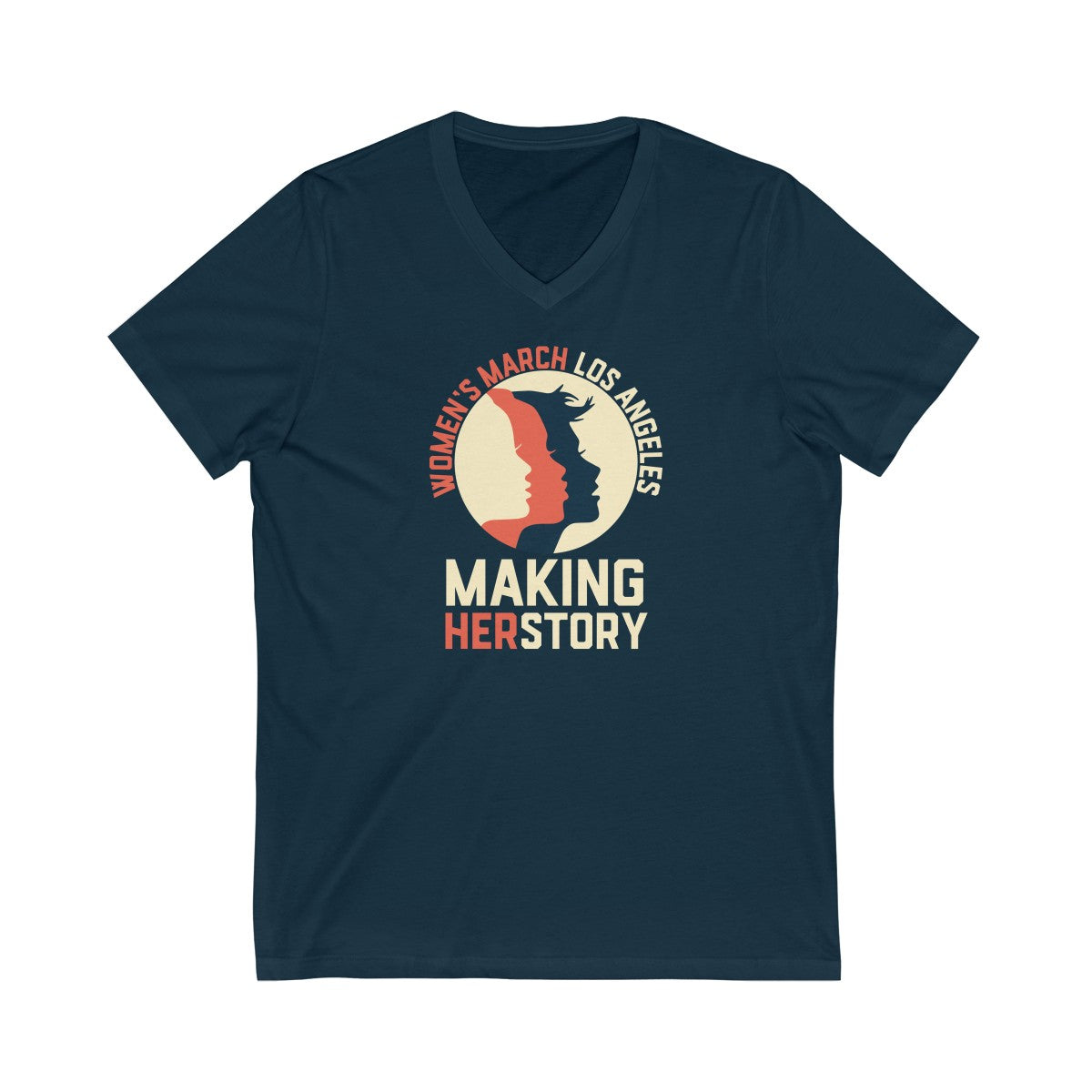 Women's March Making Herstory Unisex Jersey Short Sleeve V-Neck Tee