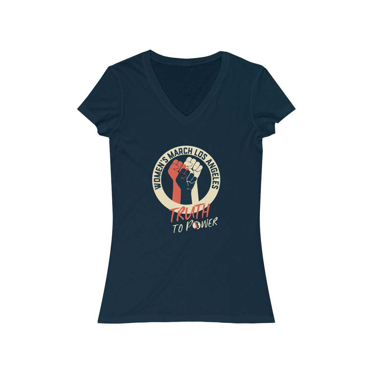 Women's March LA Truth to Power Women's Jersey Short Sleeve V-Neck Tee