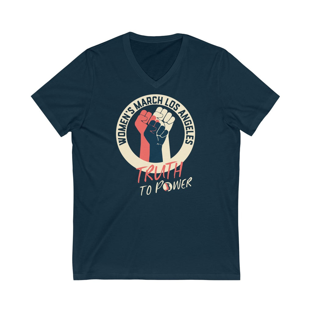 Women's March 2019 Truth to Power Unisex Jersey Short Sleeve V-Neck Tee